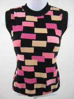 you are bidding on an anna molinari black pink sleeveless shirt top in