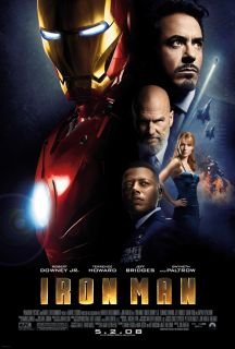 policy iron man movie poster 1 sided original final 27x40