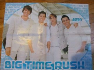 big time rush selena gomez double sided poster