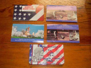 Susan B. Anthony Set of 1979 Dollars & Marshall Islands Commemorative
