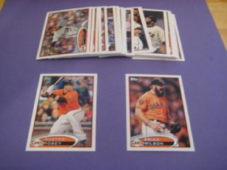 2012 Topps San Francisco Giants Team Set with Update