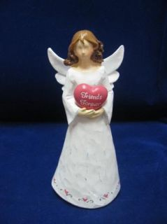 Wood Heartfelt Angels Wood Figurine Friends Forever
