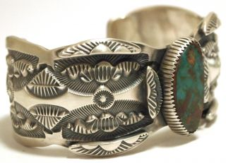 Navajo Royston Turquoise Sterling Silver Cuff Bracelet   Marc Antia