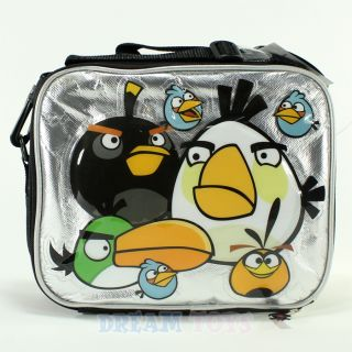 rovio angry birds and king pig insulated lunch bag box case school