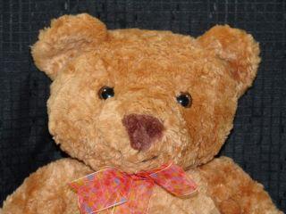 Big Polkadot Bow Plush Animal Alley Brown Stuffed Bear