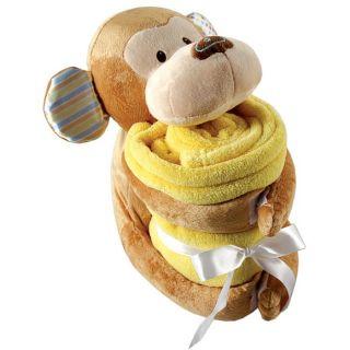 Hudson Baby Plush Animal Blanket Pig Monkey Elephant