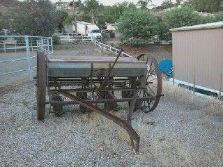 Antique Farm Equipment Horse Drawn Seeder