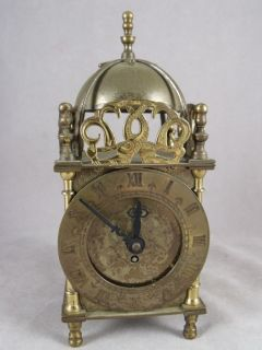 Vintage Brass Key Wind Clock Smiths English Clocks