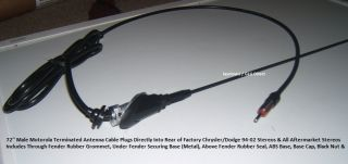 Exact Fender Fit Antenna Kit Black Shorty Dodge RAM 1500 2500 3500