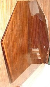 vintage beveled octagon glass table top