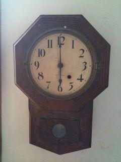 Antique Seth Thomas Octagon Hanging Drop Pendulum Clock