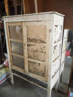 ca. 1800 12 tin primitive antique pie safe kitchen cabinet cupboard