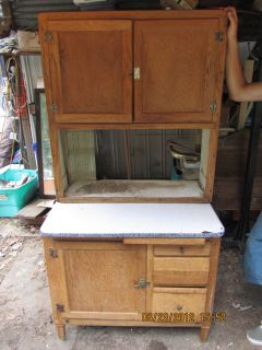 Antique Oak Original Hoosier Cupboard Cabinet 36 Restore Project