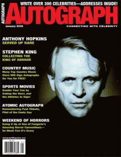 Anthony Hopkins, Stephen King Autograph Mag. Jan 2008