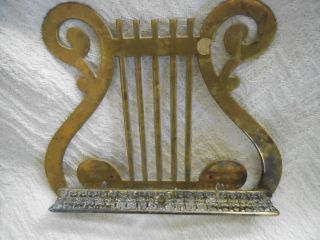 Antique Brass Lyre Sheet Music Stand or Book Stand