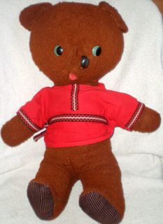 Antique Vintage Russian Soviet Toy Teddy Bear Stuffed Soft Plush 1960s