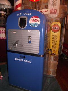 Vintage All Original Pepsi Cola Vending Machine Model Vendorlator 27