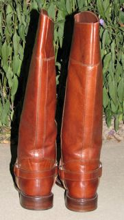 Womens Cole Haan Brown Leather Tall Riding Equestrian Style Boots Size