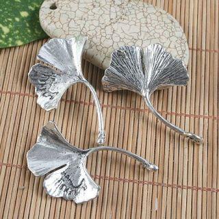 10pcs Antiqued Silver Leaf Design Pendant Charm G1093