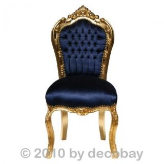 room chairs, antique style chair, navy blue velvet. Solid wood antique