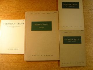 DELIUS LOT OF 4 VINTAGE MUSIC SCORES SEA DRIFT   WHITMAN APPALACHIA