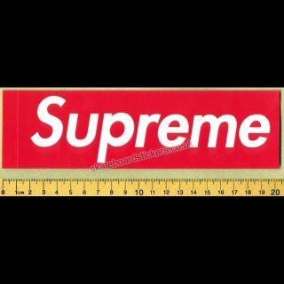 Supreme Box Logo Skateboard Clothing Sticker Red NYC