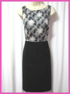 New Ann Taylor Womens Sleeveless Black Gray Dress Sz 8
