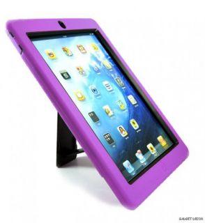 For Apple iPad 2 iPad2 Purple Hybrid Heavy Duty Kickstand Hard Soft