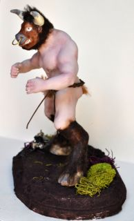 Mithology Minotaur Clay Art Doll Fantasy Iadr Ogld Anna Cimmino