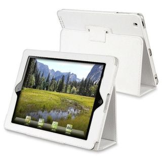 Apple iPad 2 White Leather Case Cover with Stand