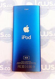 Apple iPod Nano 4th Gen 8GB Model A1285 Blue Fully Working Great