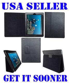 APPLE iPad 2 MAGNETIC SMART LEATHER CASE COVER W/ STAND FOR 3G WIFI