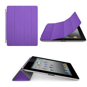 Slim Purple Smart Cover Magnetic Case for Apple iPad 2 and 3
