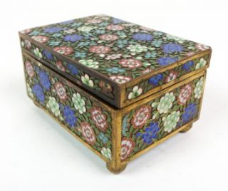 Beautiful 1920s Antique Chinese Cloisonne Export Jewelry Box