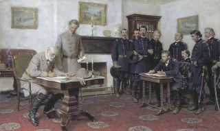 Tom Lovell Surrender at Appomattox VA Robert E Lee U s Grant Civil War