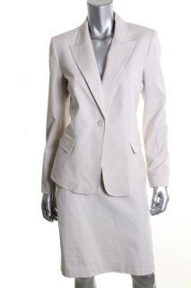 Anne Klein New Ivory Knee Length Skirt Suit 10 BHFO