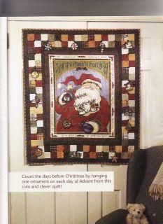 SANTAS COMING Fabric Advent Calendar Wall Hanging KIT   Sandy