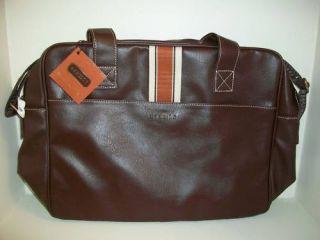 Aramis Business Travel Tote Brief Duffle Brown Bag New
