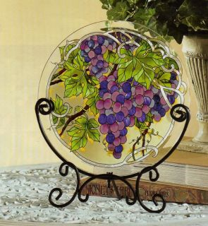 WINE & CHEESE * VINEYARD GRAPES TABLE TOP PANEL & STAND
