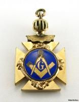 masonic vintage square compass vmc royal arcanum fob