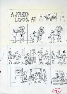 Sergio Aragones Mad 287 A Mad Look at Female Bodybuilders 2 PG Story
