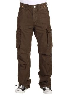 True Religion Brand Jeans Mens Anthony Relaxed Cargo Pants Brown