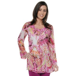 Antthony Moroccan Spice Bell Sleeve Tunic Blouse Sz M