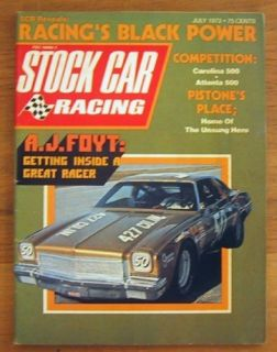 STOCK CAR RACING 1973 JULY Pearson Wood Bros Foyt