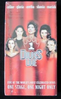 Promo SEALED VHS Mariah Carey Celine Dion New Aretha Franklin