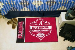 Crimson Tide 2011 BCS National Champions 20 x 30 Area Rug Floor Mat