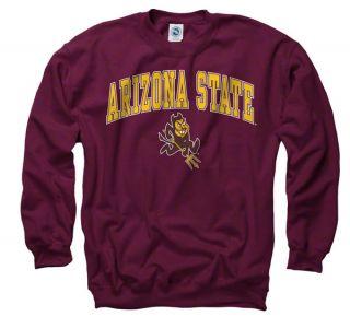 Arizona State Sun Devils Maroon Perennial II Crewneck Sweatshirt