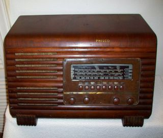 Vintage Philco Overseas Police Broadcast Wood Tube Radio Parts