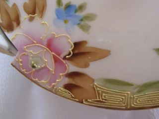Antique Hand Painted Floral Nippon Soap Dish with Drainer
