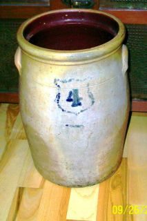Antique Stoneware Butter Churn Crock 4 Gal Sale